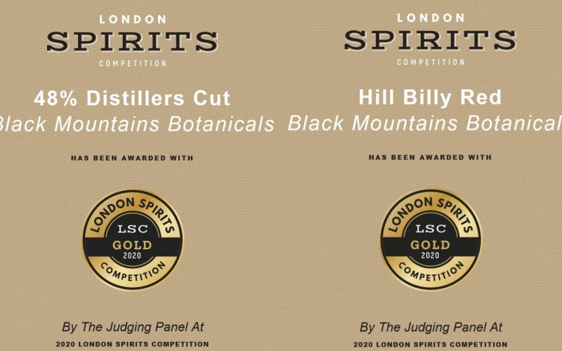 Black Mountains Botanicals Scoop Double Gold in the International London Spirits Competition